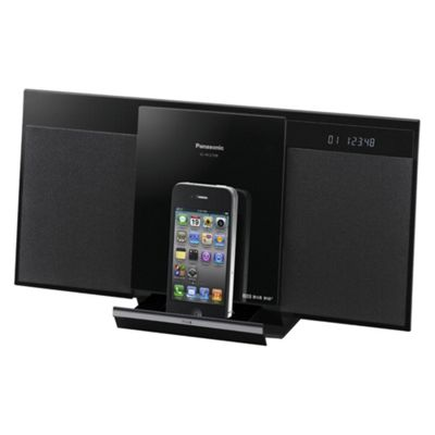 Panasonic Schc27Db Compact Dab Stereo System with Push-Open Dock For iPod/iPhone