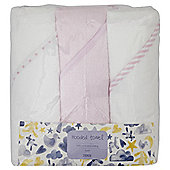 3 Pack Hooded Baby Towels - Pink