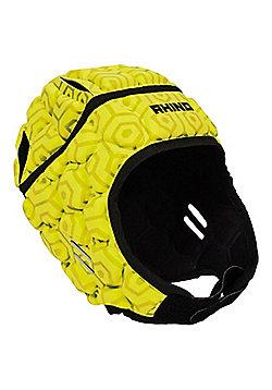 Rhino Rugby Pro Headguard / Scrum Cap - Adult Yellow - Yellow