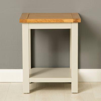 Mullion Grey Lamp Table - Stone Grey