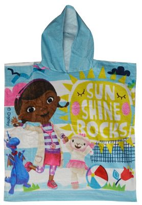 Disney Doc Mcstuffins 'Sun Shine Rocks' Hooded Poncho Towel