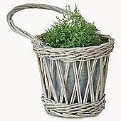 Radwick Single Galvanised & Willow Planter