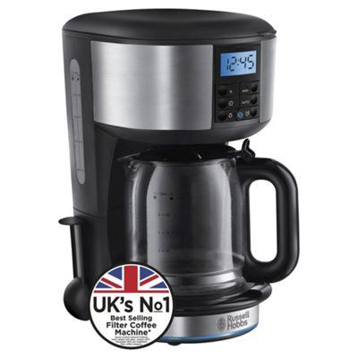 Russell Hobbs 20680 Buckingham Coffee Machine -  Black & Silver