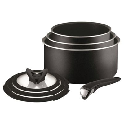 Buy Tefal Ingenio Essential 7 Piece Saucepan Set From Our