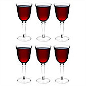 Rink Drink Plastic Red / White Wine Outdoor Glasses - Pack Of 6