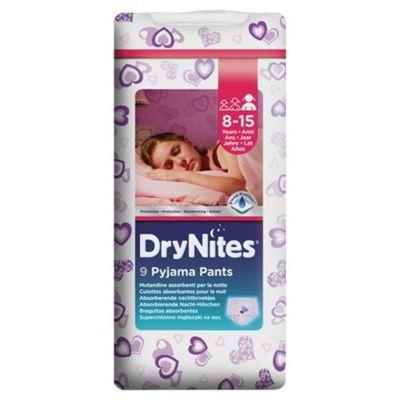 Huggies Dry Nites Pyjama Pants X9 Girl 8-15 Years