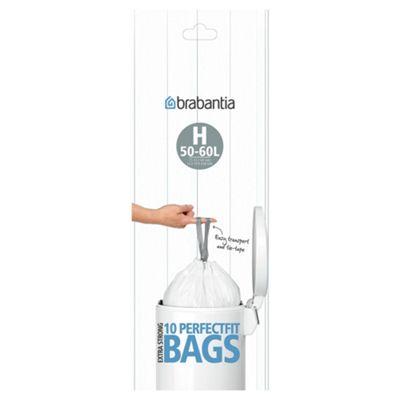 Brabantia Bin Liner H, 40 to 50 Litre, 10 Bags
