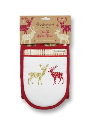 Cooksmart Highland Christmas Stag Double Oven Glove