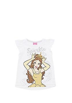 Disney Princess Belle Print T-Shirt - White