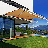 Outsunny 2.5 x 2m Patio Door Awning Manual Retractable Shade Outdoor Canopy Garden Shelter