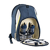 Navigate Atlantic Blue Stripe Insulated 2 Person Picnic Backpack Set