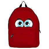 Just A Little Bit Worried Red Backpack