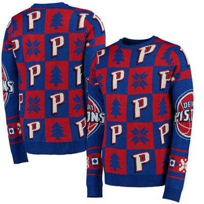 NBA Basketball Detroit Pistons Patches Crew Neck Sweater - S