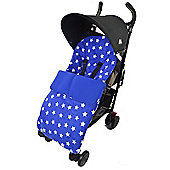 Fleece Footmuff To Fit bugaboo Bee Cameleon Donkey Buffalo Star Blue