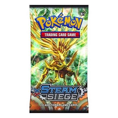 Pokemon Trading Card Game, Steam Siege Booster Pack, 10 Additional Cards