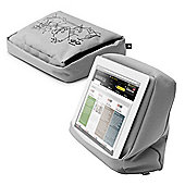 Bosign HiTech 2 Portable TabletPillow in Silver & Black for Ipads and Tablets 27x9.5x22cm