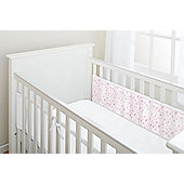 Breathablebaby 2-Sided Cot Liner - Twinkle Twinkle (Pink Stars) - Multi & White