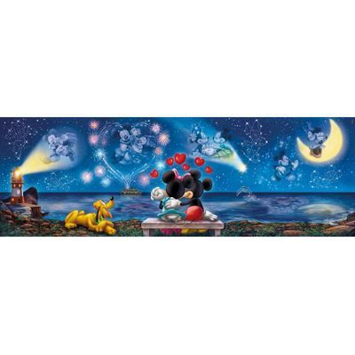 Mickey and Minnie Panoramic Puzzle