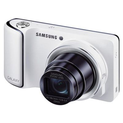 Samsung Galaxy Digital Camera, White, 16.3MP, 21x Optical Zoom, 4.8