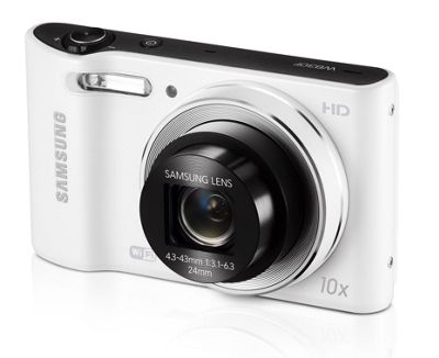 Samsung WB30F Digital Camera, White, 16.2MP, 10x Optical Zoom, 3.0 inch LCD Screen