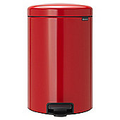 Brabantia New Icon Pedal Bin 20L, Passion Red