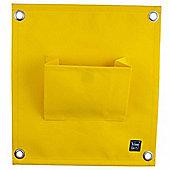 Yellow Wall-mountable Fabric Pocket Wall Planter