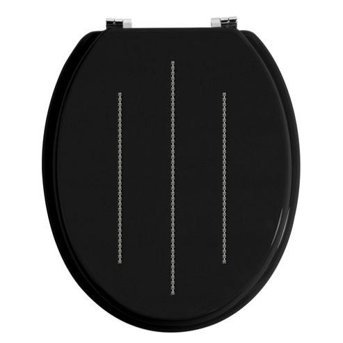 Premier Housewares Toilet Seat - Black