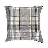 McAlister Heritage Cushion - Charcoal Grey Wool Look Tartan Check