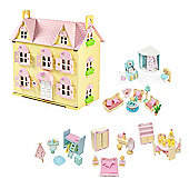 Butterbee Cottage Wooden Dolls House with Furniture (Complete Sweetbee Furniture Set)