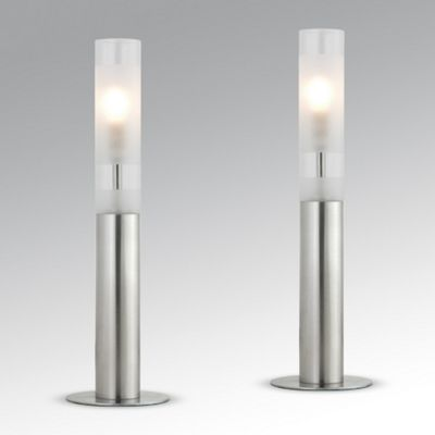 Buy pair of hamlett touch table lamps brushed chrome from our table pair of hamlett touch table lamps brushed chrome aloadofball Images