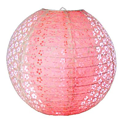 Loxton Lighting Double Skinned Lacy Design Fuchsia Paper Lantern