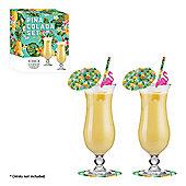 Pina Colada Cocktail Glass Set