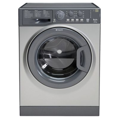 Hotpoint WMYL661G Washing Machine, 6kg Load, 1600 RPM Spin, A+ Energy Rating, Graphite