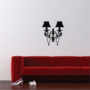 Wall Lamp Wall Sticker, Black