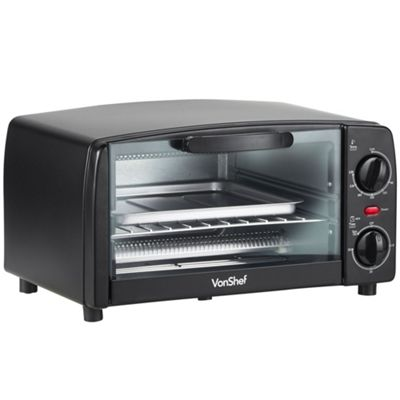 VonShef 9L Mini Oven - Compact & Portable Oven with Built In Timer