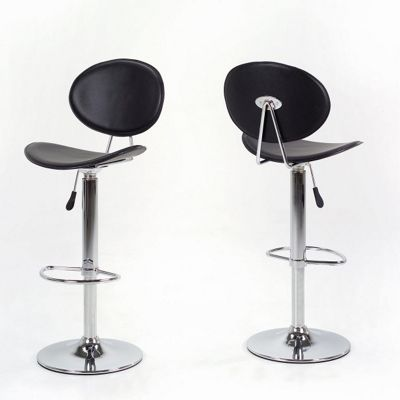 Aspect Design MaMessina Chrome Barstool in Black