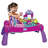 Mega Bloks First Builders Build N Learn Table Pink