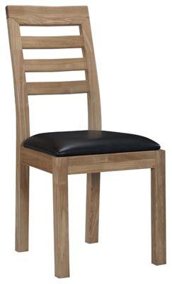 Kelburn Furniture Lyon Dining Chair in Light Oak Matt Lacquer