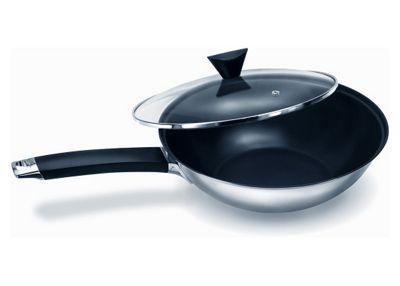 Ken Hom Stainless Steel 28cm Non-Stick Peking Wok