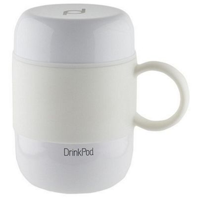 Grunwerg Pioneer Vacuum Insulated Drink Pod Mug with Handle White 280ml