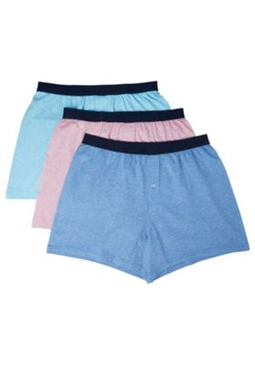 F&F 3 Pack of Jersey Boxers with As New Technology Multi 2XL