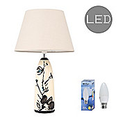 Oriental Pitcher LED Table Lamp - Beige