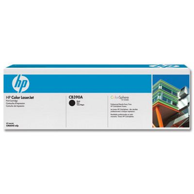 HP CB390A Colour LaserJet Print Cartridge with ColourSphere Toner - Black