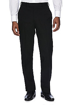 F&F Regular Fit Tuxedo Trousers - Black