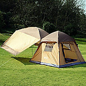 Outsunny 8 Man Camping Dome Tent Separable Canopy Sunshade Shelter