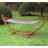 Outsunny Garden Wooden Frame Hammock Arc Stand