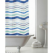 PEVA Shower Curtain Striped - Blue