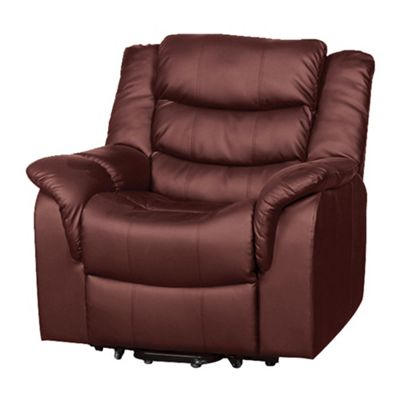 Sofa Collection Victoria Riser Recliner with Massage and Heat Function - Burgundy