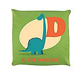 D Is For Dinosaur Lime Green Cushion 40 x 40cm