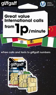 GIFFGAFF INTERNATIONAL TRI SIM